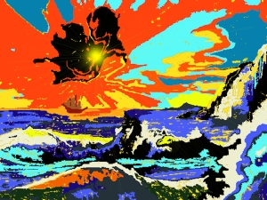 abstract computer painting -